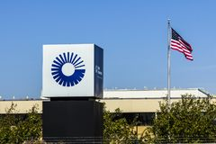 Indianapolis - Circa October 2017: United Technologies Factory. UTC Provides a Broad Range of High-Technology IV Royalty Free Stock Photography