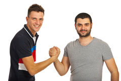 United two friends guys Stock Photos