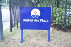 United Way of America Plaza. United Way of America now United Way Worldwide based in Alexandria, Virginia, is a nonprofit organization that works with almost 1 stock image