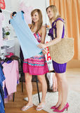 United women choosing clothes together Royalty Free Stock Photography