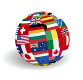 United World Flags. 3 dimension sphere world flags vector illustration Royalty Free Stock Photos