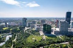 Uniteden Nations som bygger i Wien Österrike från över royaltyfri foto