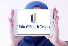 UnitedHealth Group logo. Logo of UnitedHealth Group on samsung tablet holded by arab muslim woman. UnitedHealth Group Inc. is an American profit managed health stock photos