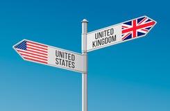 UnitedStatesUnitedKingdom Lizenzfreie Stockbilder