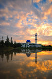 Uniten meczet przy półmrokiem Obraz Stock