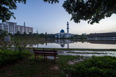Uniten mosque bangi malaysia. Uniten mosque uniten mosque  during sunrise in framing Stock Photos