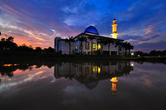 Uniten Mosque at dusk Stock Images