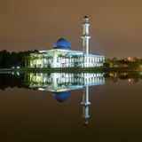 UNITEN Mosque at night with reflection Stock Photography