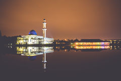 UNITEN Mosque. Night view at UNITEN Putrajaya Campus, Malaysia Stock Images