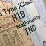 Unites states of America H1B visa for Indians Stock Photo