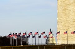 Unites States Capitol Building with Washington Monument Stock Photography