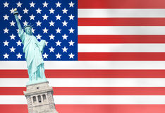 Unites States Flag Statue of Liberty Stock Images