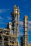 Units for nitric acid production on fertilizer plant.  stock photography