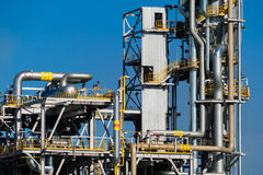 Units for nitric acid production on fertilizer plant Stock Image
