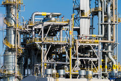 Units for nitric acid production on fertilizer plant Stock Photography