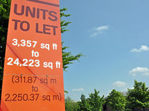 Units To Let Sign Royalty Free Stock Photos