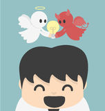 Unity- angel and devil .Vector Stock Image