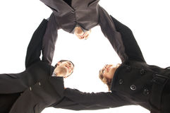 Unity of business people over white background Royalty Free Stock Photos