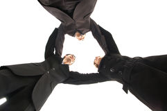 Unity of business people over white background Royalty Free Stock Photography