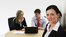 Unity in a business team. Business team working together stock video footage