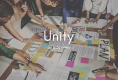 Unity Community Connection Cooperation Team Concept Royalty Free Stock Image