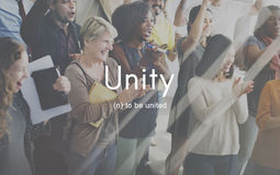 Unity Community Connection Cooperation Team Concept Royalty Free Stock Photo