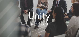 Unity Community Connection Cooperation Team Concept Stock Image