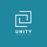 Unity Consulting Abstract logo. Partnership concept logotype. Royalty Free Stock Photography