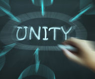 Unity Diagram Means Working As Team And Cooperation. Unity Diagram Meaning Working As Team And Cooperation Stock Photos