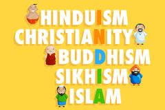 Unity in Diversity. Illustration of Indian people of different caste forming India Stock Images