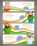 Unity in Diversity. Vector illustration of Indian people of different caste Stock Photography