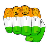 Unity in Diversity. Vector illustration of Indian people of different culture standing together, Unity in Diversity Stock Image