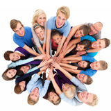 Unity - Group of people Working together Royalty Free Stock Photos