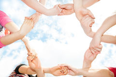 The unity of the hands Stock Photography