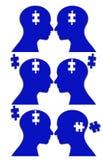 Unity jigsaw puzzle brain Royalty Free Stock Photos