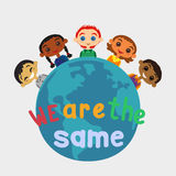 Unity of kids different nationalities Stock Photos