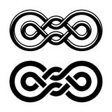 Unity knot black white symbol. Illustration for the web Stock Photography