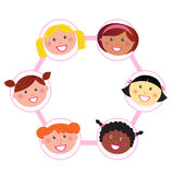 Unity - multi cultural woman group union / network Stock Photos