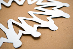 Unity paper man Royalty Free Stock Photography