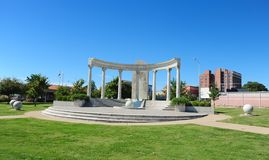 Unity park and water fountain, Jackson, Tennessee. Royalty Free Stock Photography