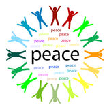 Unity and peace vector illustration