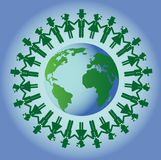 Unity people from around the world. Eco background. Unity people from around the world Royalty Free Stock Image