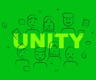 Unity People Represents Team Work And Cooperation Stock Photos