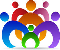 Unity of people. A vector drawing represents unity of people design Stock Images