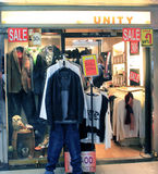 Unity shop in hong kong Royalty Free Stock Photography