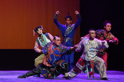 """Unity is the strength--Peking opera """"Little Worriors of Yeuh's family"""" Stock Photography"""