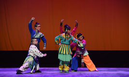 """Unity is the strength--Peking opera """"Little Worriors of Yeuh's family"""" Royalty Free Stock Images"""