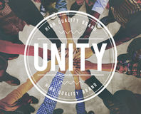 Unity Teamwork Togetherness Partnership Cooperation Concept Royalty Free Stock Photography