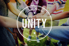 Unity Teamwork Togetherness Partnership Cooperation Concept Royalty Free Stock Photo