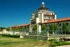 Unity Village Institution Kansas City. View of the main building at the Unity Village religous education institution near Lees Summit, a part of the Kansas City Royalty Free Stock Photo